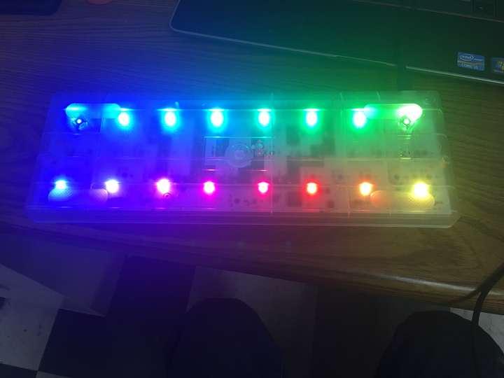 a rainbow under your keyboard